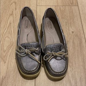 Sperry Silver Angelfish Boat Shoes
